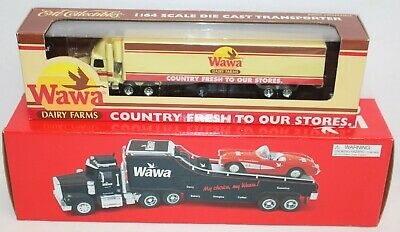 Vintage Wawa Collectible Truck Lot ERTL Car Carrier 1:64 1:32 Tractor Trailer