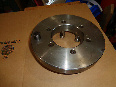 "New D1-6 lathe chuck adapter back plate 9-1/4"" OD undrilled #091264 with pins"