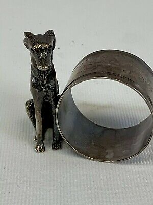 Beautiful extremely detailed Greyhound  napkin ring....antique