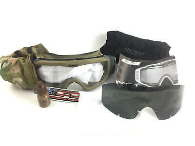 ESS Profile Tactical Ballistic Goggles, Multicam Eyewear w Clear & Smoke Lenses
