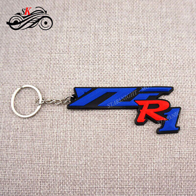 Motorcycle Rubber Keyring Keychain Key Ring Key Chain For Yamaha YZFR1 Cool Gift