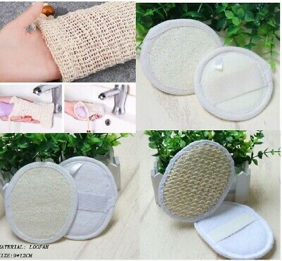 Eco Friendly Natural Exfoliating Shower Bath Wash Pad Soap Bag Sisal Face Loofah