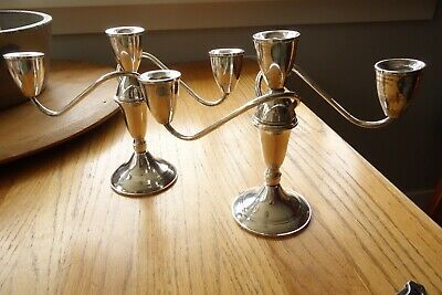Duchin Creations Sterling Silver Candelabras ~ Weighted, Pair