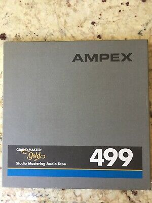 Ampex 499 Grand Master Gold 10.5 reel 1/4 tape partly used near mint
