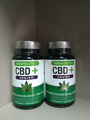 2 x 30 Naturopathica Hemp 5mg + Unwind/Mind/Wellbeing/Digestion