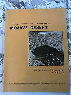 A Geologic Reconnaissance In The Southeastern Mojave Desert 1964 Map