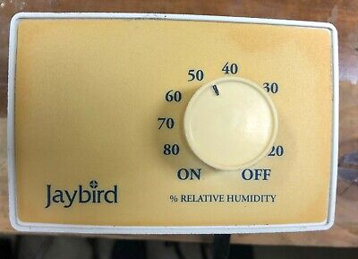 Jaybird Prewired Humidstat Excellent Condition Plug n Play 8' cord 110/120 volt