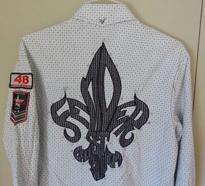 FENDER Guitars Custom Rock n' Roll Religion Shirt - Size M Embroidered / Patches