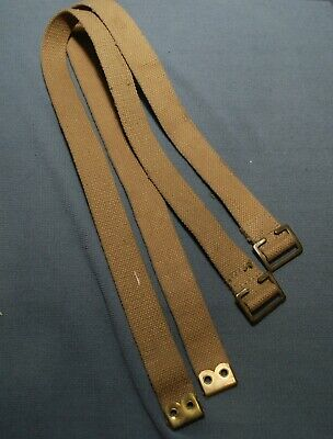 Canadian Army 37 Pattern Webbing P37 Long Straps Pair Grade 2 Cond Mild Wear