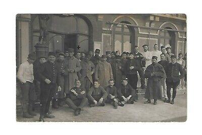 Vintage Antique WWI Real Photo RPPC Postcard French Army Corps Hospital Paris