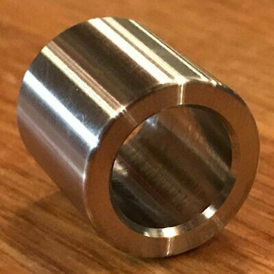 """(2 pc) Extsw 1/2"""" ID x 3/4"""" OD x 3/4"""" long 304 Stainless Steel Spacers"""
