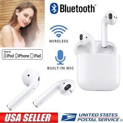 Dual Wireless Bluetooth Headphones with Charging Case Earbuds Headset For Iphone