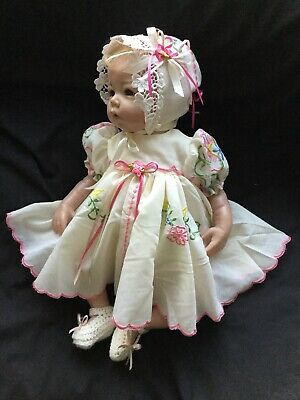 "Reborn Doll Dress Set.embroidery Cream. 19-21""."
