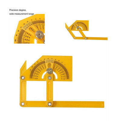Portable 0-180 Degrees Angle Finder Plastic Protractor Goniometer Miter Gauge