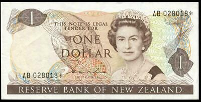 New Zealand - $1 - Star Note - Hardie - AB 028018* - Extremely Fine