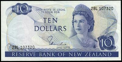 New Zealand - $10 - Hardie - 28L 107320 - Extremely Fine