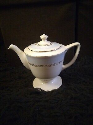 Homer Laughlin Georgian Eggshell Blue -Rare Pattern- 5 Cup Large Footed Tea Pot