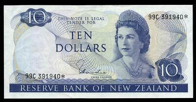 New Zealand - $10 - Star Note - Hardie - 99C 391940* - Extremely Fine