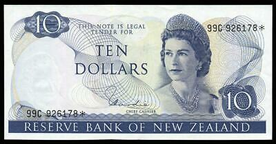 New Zealand - $10 - Star Note - Hardie - 99C 926178* - Extremely Fine