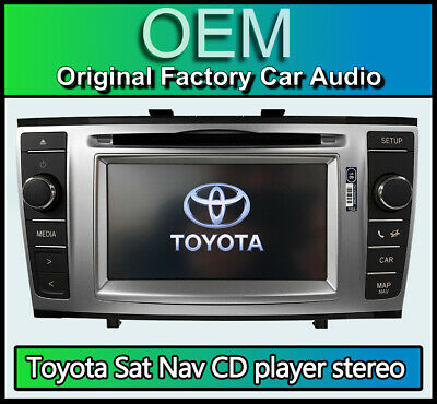 Toyota Avensis sat nav CD player stereo, Toyota navigation Bluetooth car radio