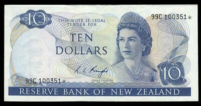 New Zealand - $10 - Star Note - Knight - 99C 100351* - Extremely Fine