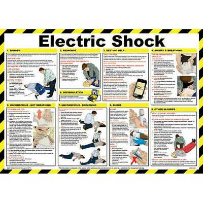 SAFETY FIRST AID Electric Shock Treatment Guidance Poster - 59cm x 42cm A601T