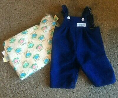 Cabbage Patch Kid ~ Vintage Original Cpk Girls Blue Corduroy Overalls & Nappy