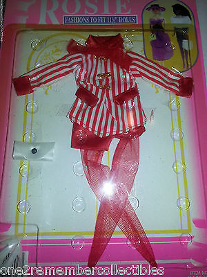 """BARBIE Rosie RED SHORTS OUTFIT Clothes Purse Shoes VINTAGE 11 1/2"""" Dolls NEW"""