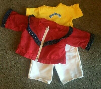 Cabbage Patch Kid ~ Vintage Cpk Girls Ruffled Windbreaker T-Shirt Outfit