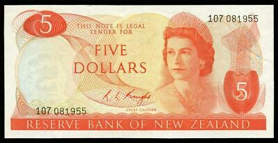 New Zealand - $5 - Knight - 107 081955 - Extremely Fine