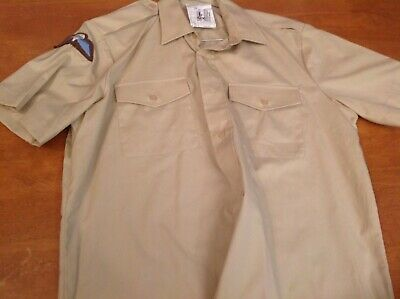 Post ww2 British Army Fawn All Ranks Short Sleeve Shirt. Collar Size 38.