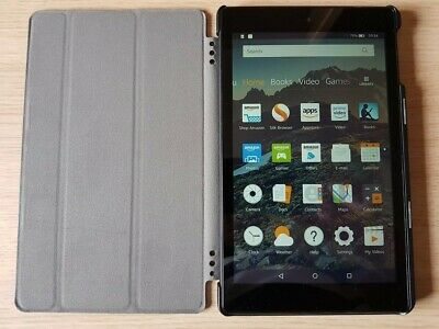 """Amazon Kindle Fire HD 8"""" Tablet, 7th Generation, 16GB Wi-Fi with Alexa & Case"""