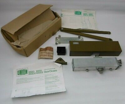 Vintage Union 8820 Overhead Door Closer BROWN - Boxed + Instructions & fittings