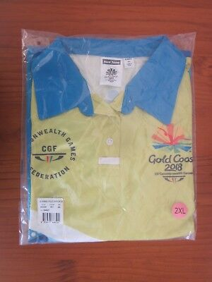 Gold Coast Commonwealth Games Official Volunteer Uniform Shirt Brand New Unopen