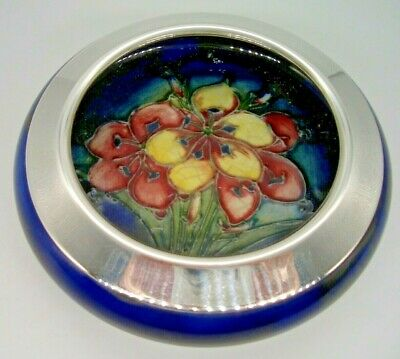 Moorcroft Freesia Rolled-Edge Dish by William Moorcroft 1930's