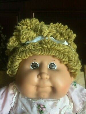 Cabbage Patch Kid ~ Htf Single Gold Popcorn Cpk ~  #16 Headmold ~ Displayed Only