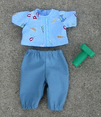 "Handmade Doll Clothes for 11"" - 13"" Baby Dolls - Boys ""Measure Up"" 2pc Play Set"