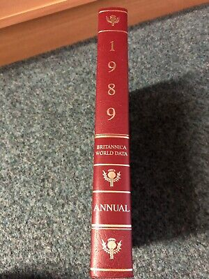 1989 Encyclopaedia Britannica Book of the Year Yearbook - Royal Burgundy Leather