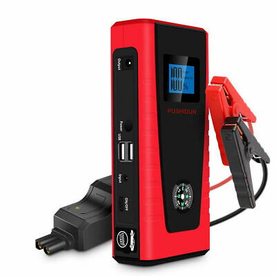 Car Jump Starter 600A 12000mA Auto Battery Booster for 4L Petrol & 2L Diesel Eng