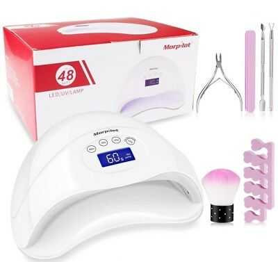 48W UV Led Nail Lamp with 4 Timers (15s/30s/60s/99s)