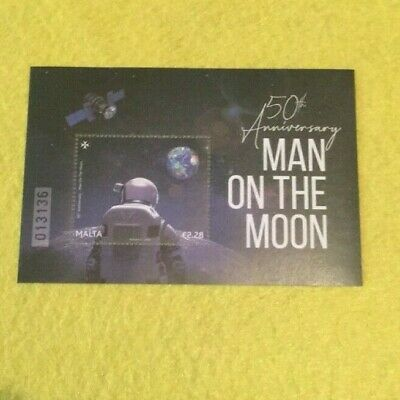Malta 50Th Anniversary Man On The Moon Stamp Apollo 11 Nasa Armstrong Space