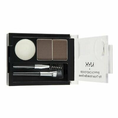 NYX Eyebrow Cake Powder, Two Shades Of Powder, Dark Brown/Brown