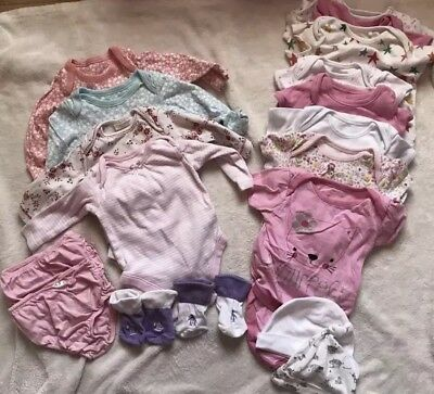 Beautiful Bundle Of Baby Girls Cloths Age 0-3 Months