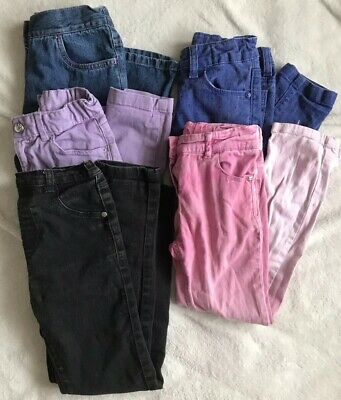 Lovely Bundle Of Girls Jeans Age 6-8 Years