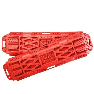 New Pair Recovery Tracks Sand Mud Snow Red Tracks/Trax 4X4 ATV CAR Offroad 4WD V