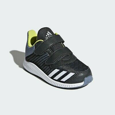adidas FortaRun Shoes Trainers  Boys Girls Unisex Kids Black UK8 EUR25.5 - New