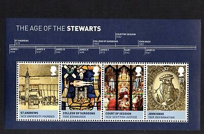 GB QE II 2010 MS3053  Kings and Queens 3rd issue mini sheet MNH