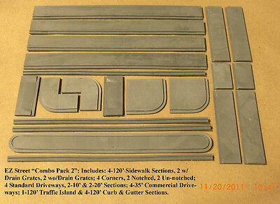 """4-35/' Commercial Driveways Sections FNA-3005 N SCALE /""""EZ STREETS/"""""""