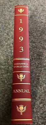 1993 Encyclopaedia Britannica Book of the Year Yearbook - Royal Burgundy Leather