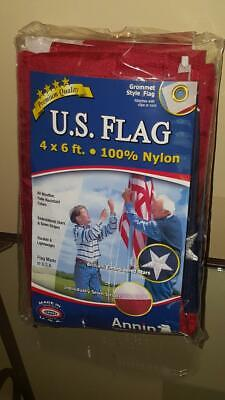 US American Flag 4x6 ft. Tough-Tex the Strongest, Longest Lasting Flag by Annin